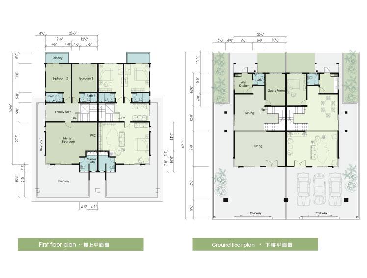 Semi Detached House Plan